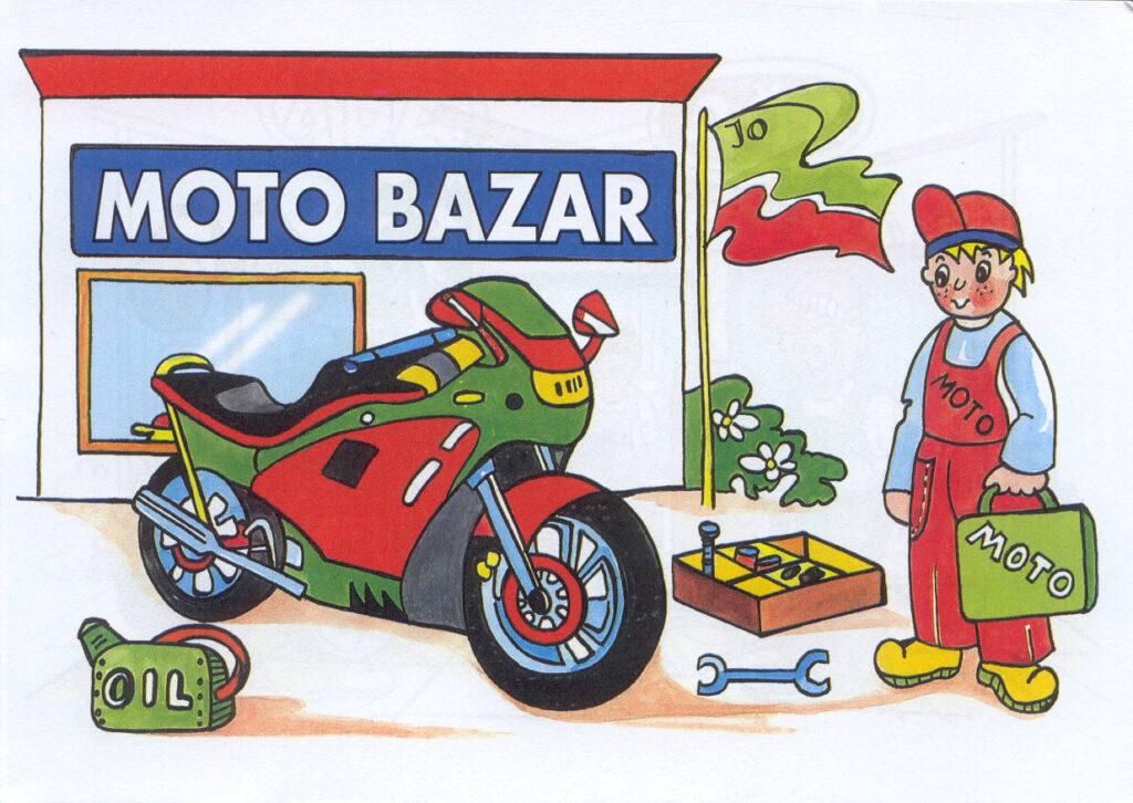 Omalovánky A5 Moto bazar L 86