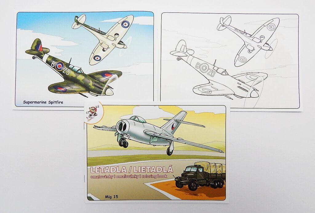Omalovánky A5 Letadla MIG 15