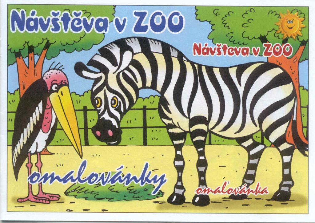 Omalovánky A5 Návštěva v zoo /01/
