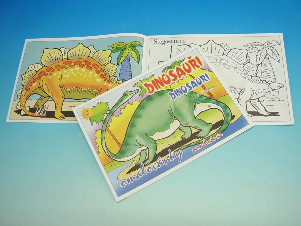 Omalovánky A5 Dinosauři