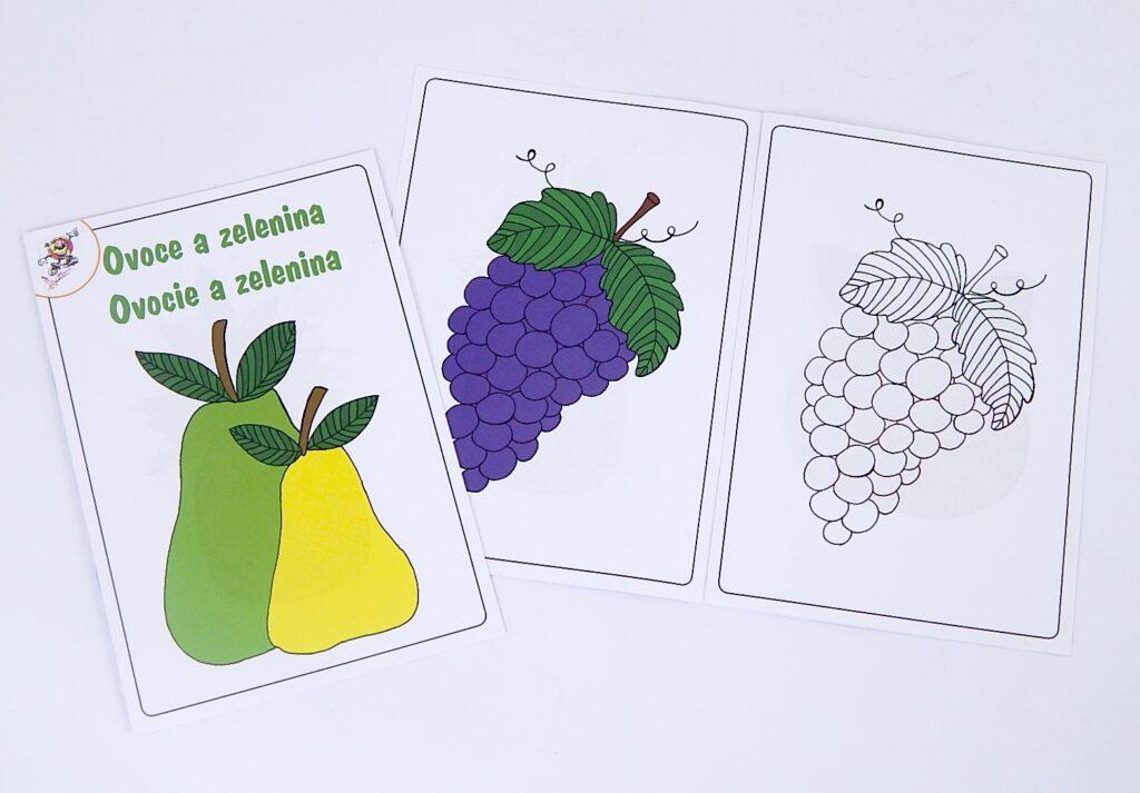 Omalovánky A5 Ovoce