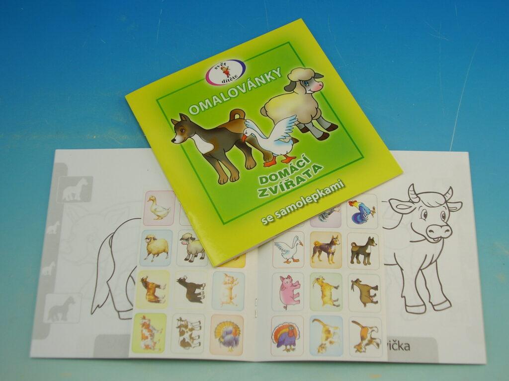 Omalovánky 15x15 Domácí zvířata+samolepky
