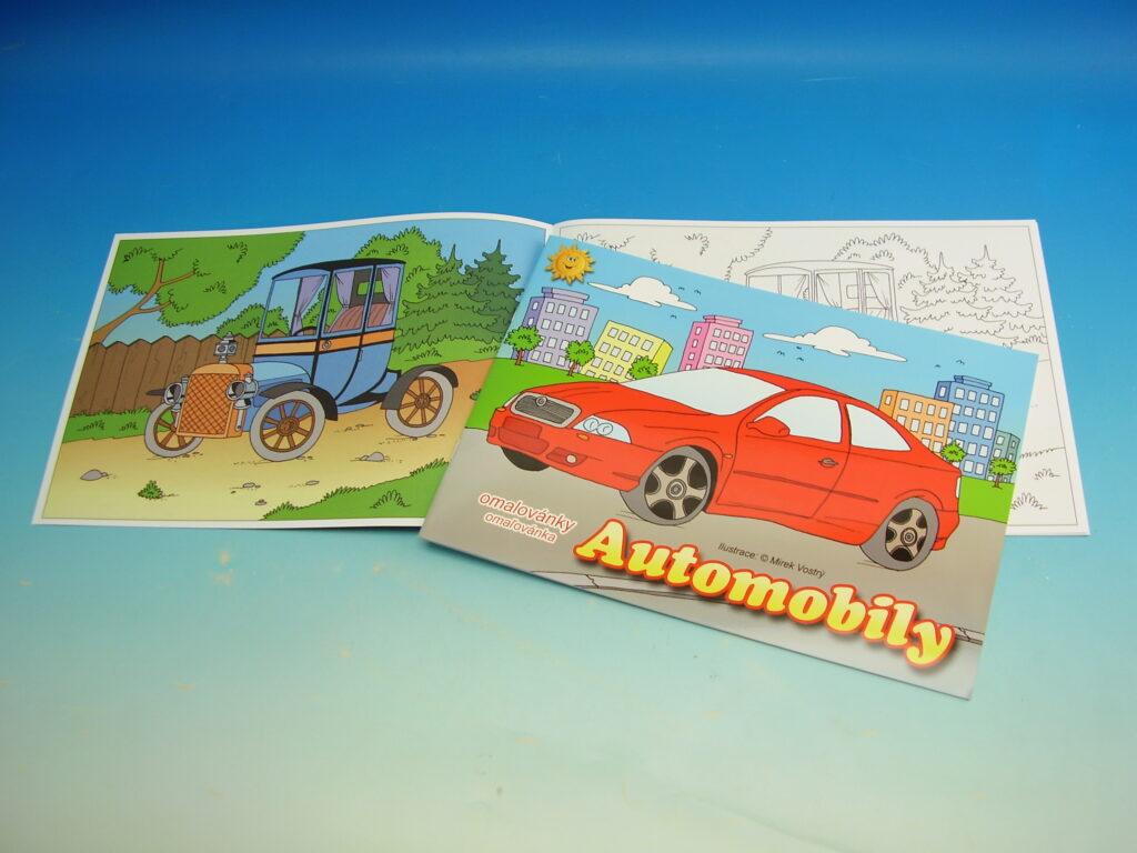 Omalovánky A4 Automobily