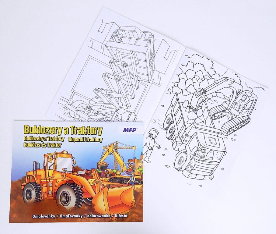 Omalovánky A4 Buldozery a Traktory / 5300949 /