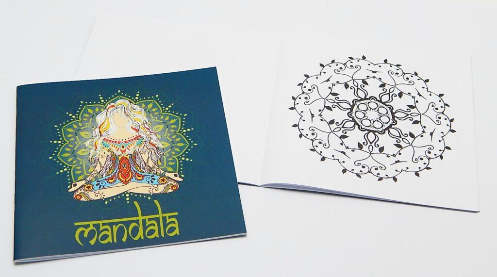 Omalovánky Mandala modrá