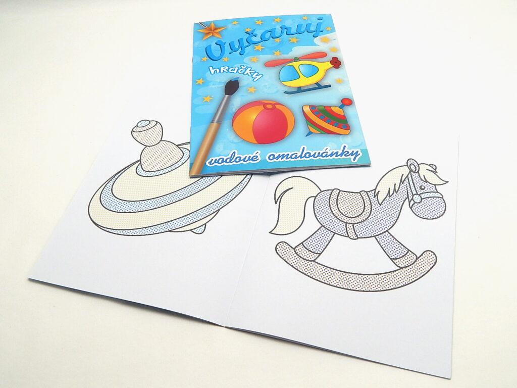 Omalovánky A4 Vyčaruj hračky vodové