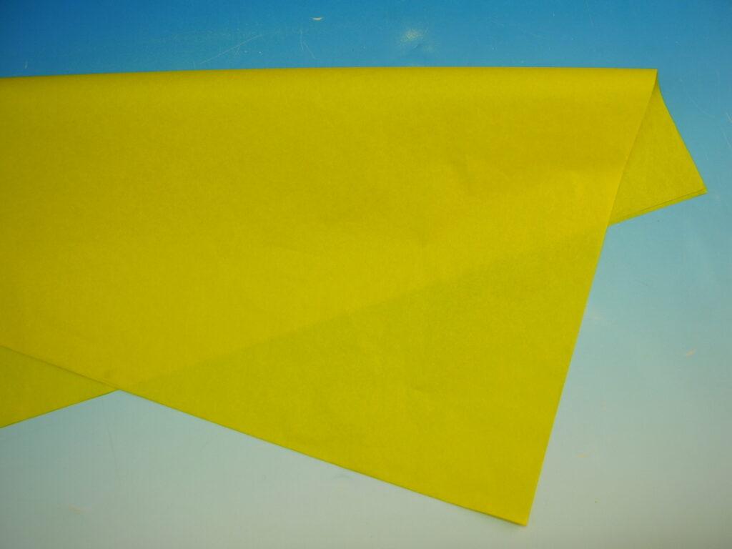 Papír hedvábný  ŽLUTÝ  50x70cm, 19g, ARCH, 870410