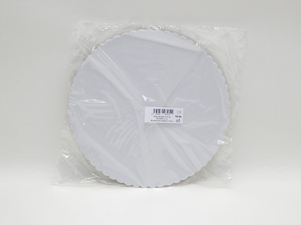 Podložka pod dort 21,5 cm, 10 ks