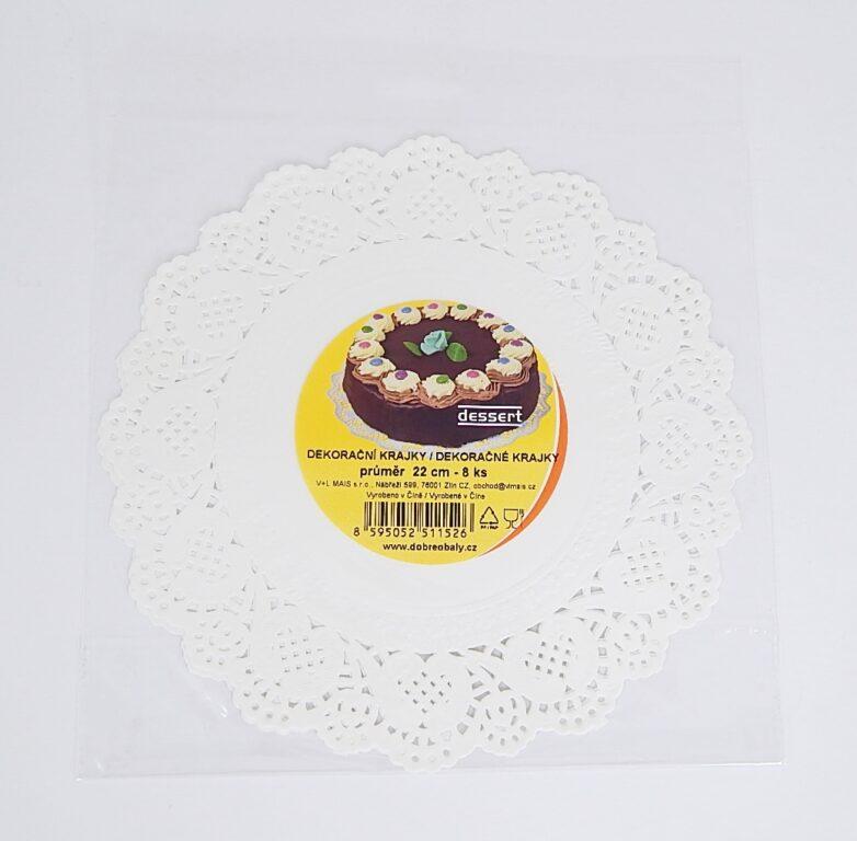 Krajka Dessert pr.22cm / 8 ks / 2511526