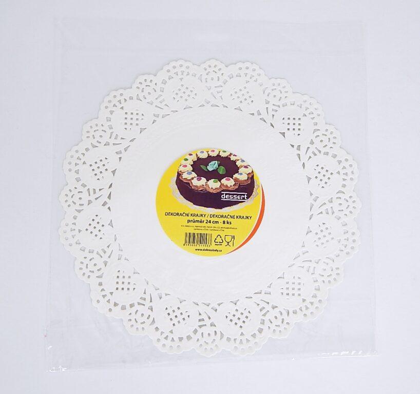Krajka Dessert pr. 24 cm / 8 ks / 2511533