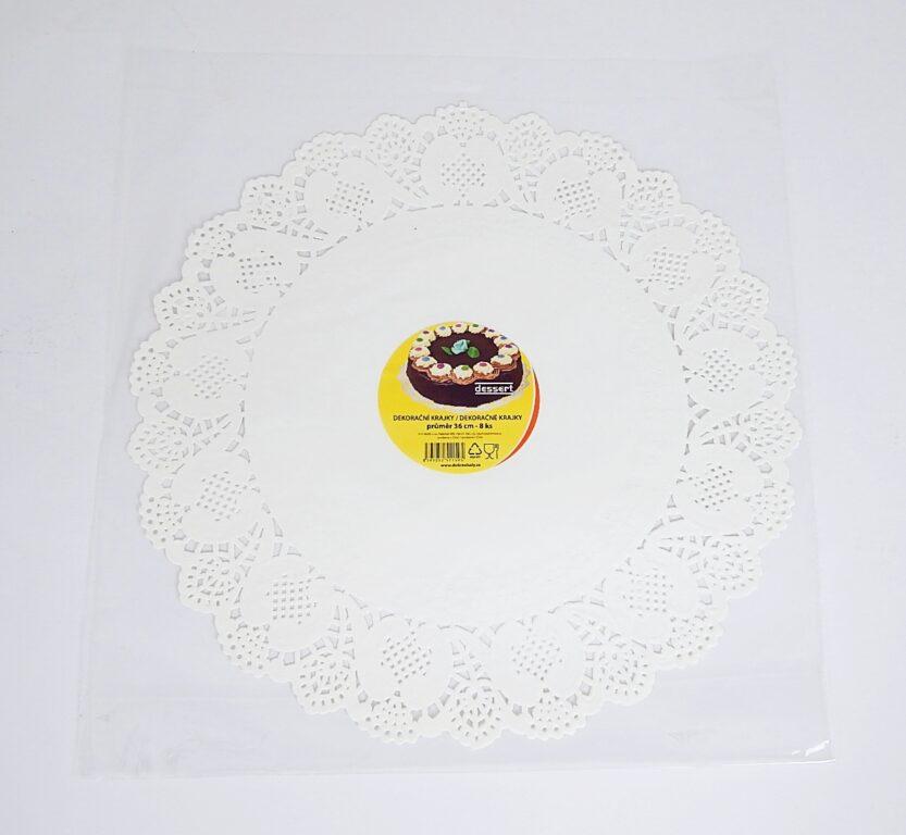 Krajka Dessert 36 cm / 8 ks / 2511595