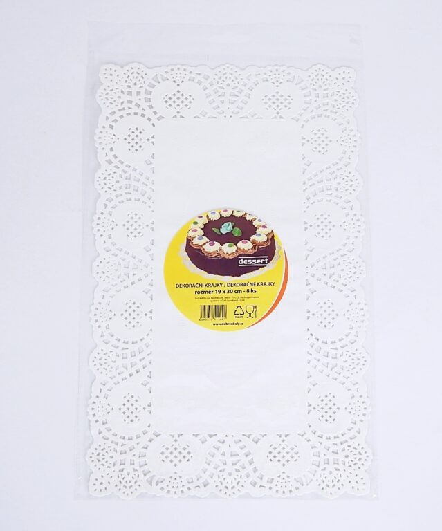 Krajka Dessert 19x30 / 8 ks / 2511601