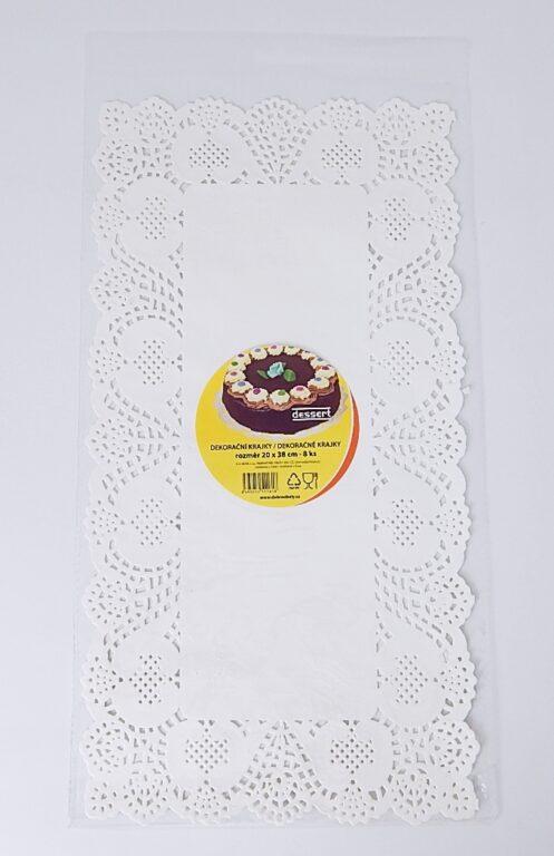 Krajka Dessert 20x38 / 8 ks / 2511618