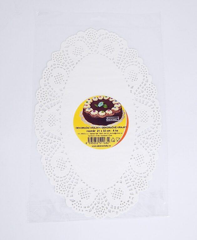 Krajka Dessert  ovál 21x32 / 8 ks / 2511632