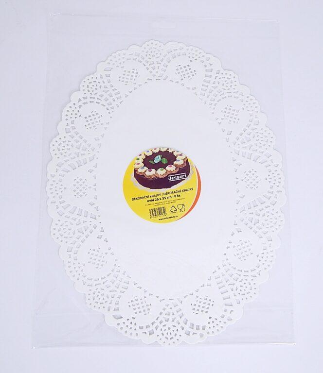 Krajka Dessert ovál 26x35 / 8 ks / 2511649