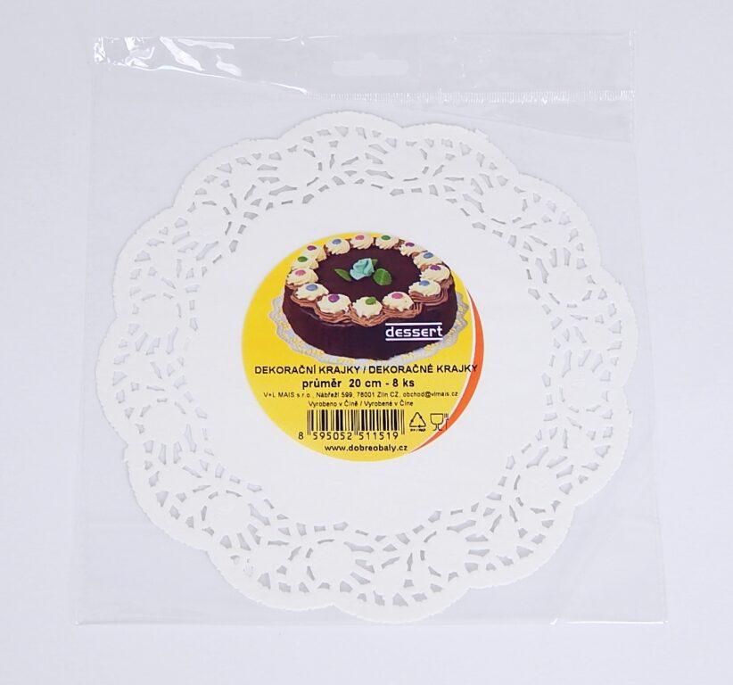 Krajka Dessert pr. 20cm / 8 ks / 2511519