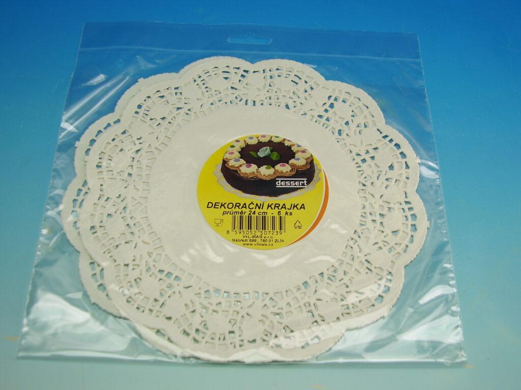 Krajka Dessert 24cm/6 ks  bílá cukrář.