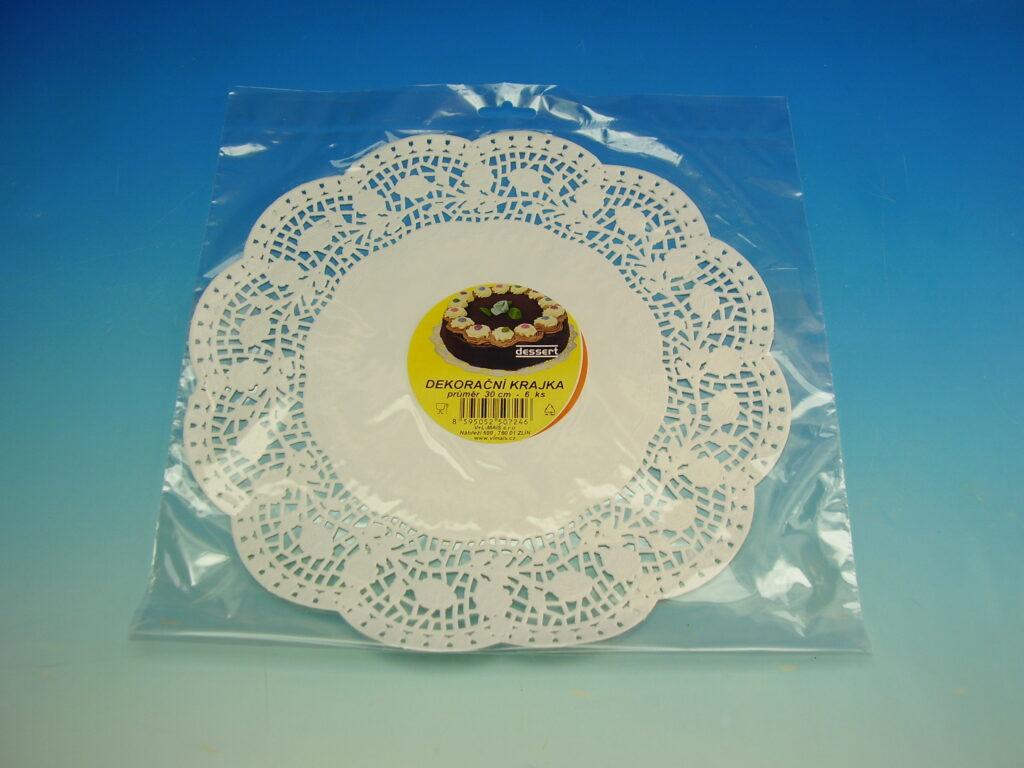 Krajka Dessert 30cm/6 ks bílá cukrář.
