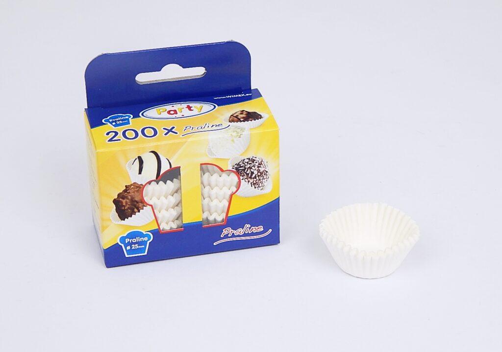 Košíček 65525 25x18/200ks/ bílé cukrář.