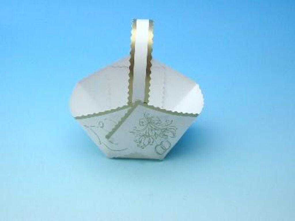 Košíček svatební papírový 50ks
