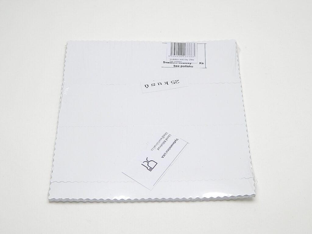 Košíček svatební papírový bez potisku 25ks