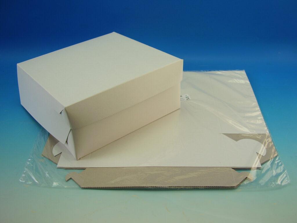 Krabice dortová 250x250x90mm, 3ks