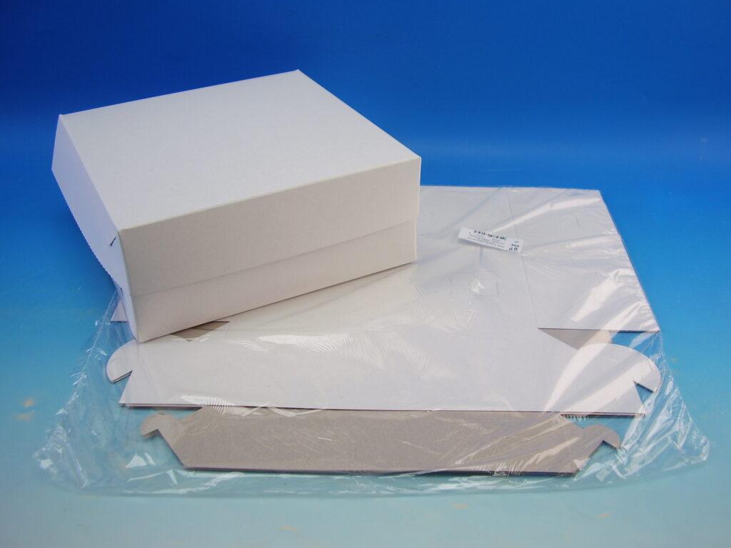 Krabice dortová 220x220x90mm, 3ks
