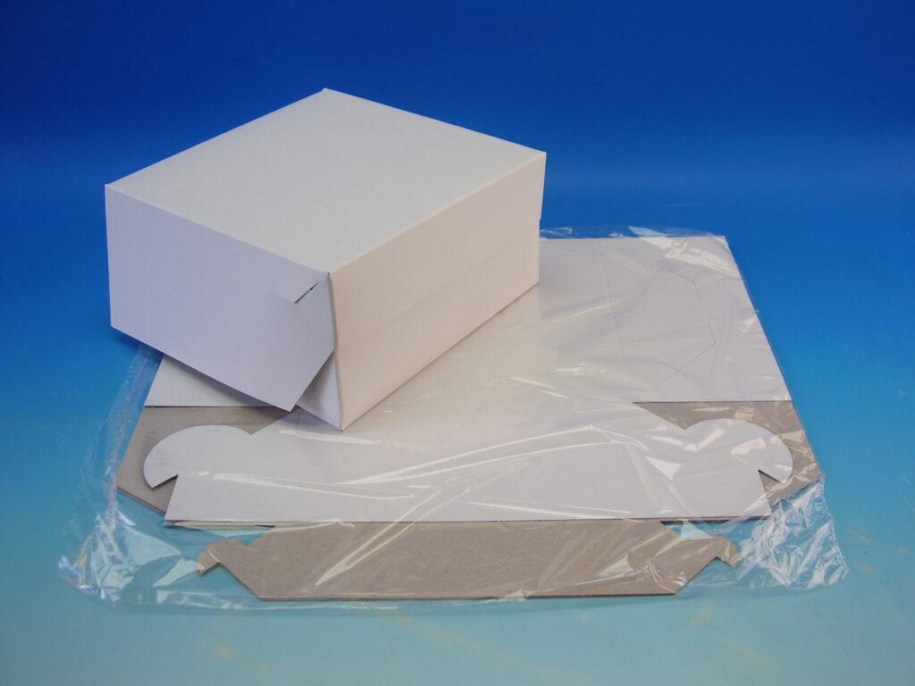 Krabice dortová 180x180x90mm, 3ks