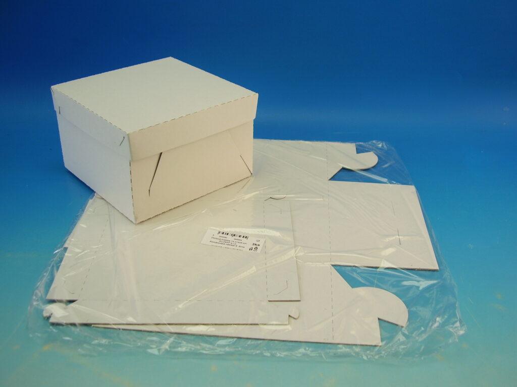 Krabice dortová 140x140x90mm, 3ks