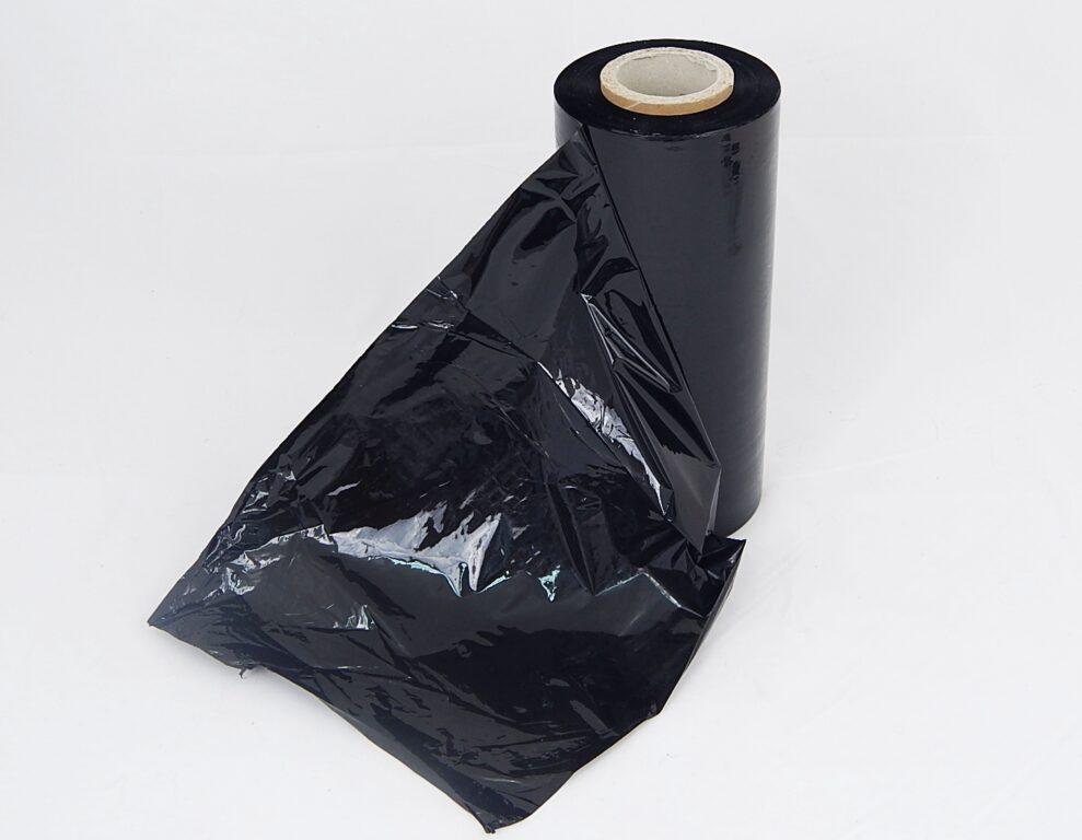 Folie strečová ruční, černá 0,023 my , 250 mm x 190 m / 533868 /