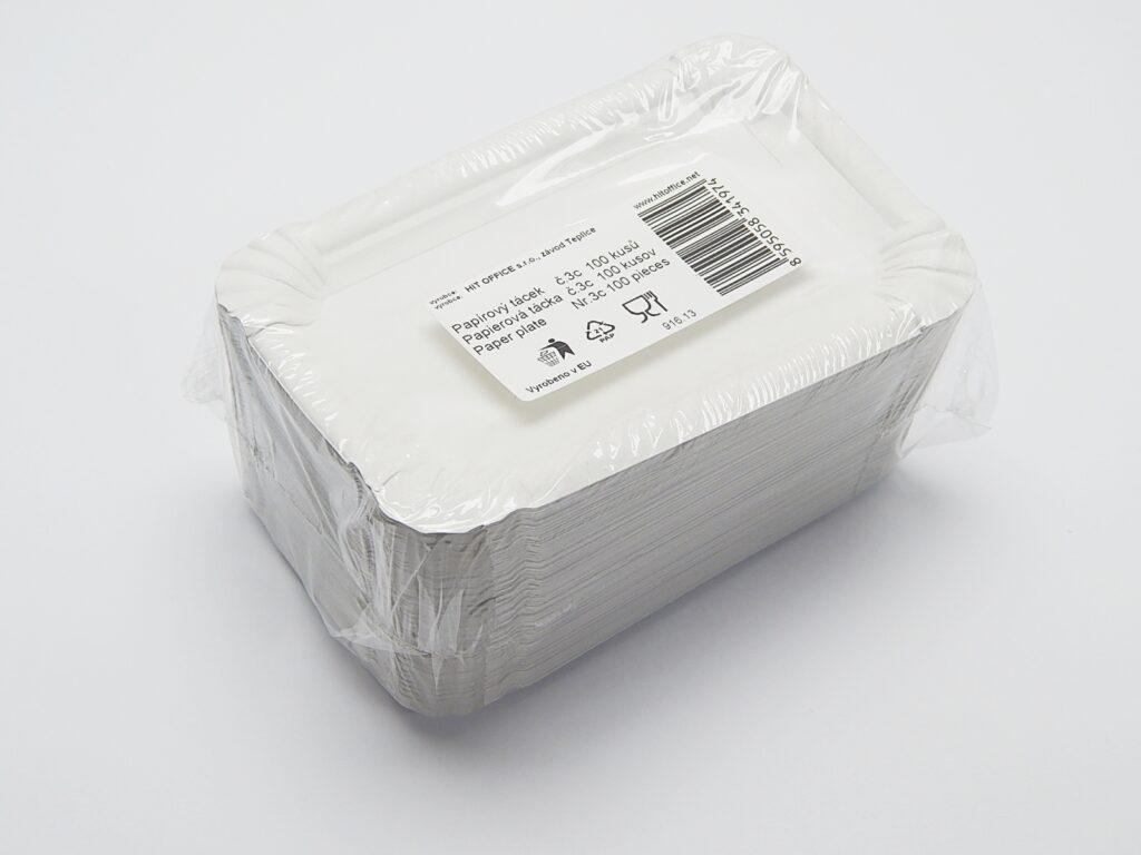 Tácek 10x16 cm č.3 papírový / 71120/