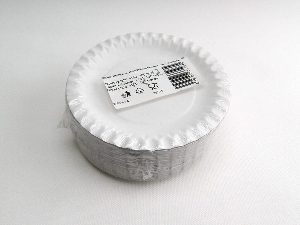 Talíř 15cm papírový 100ks