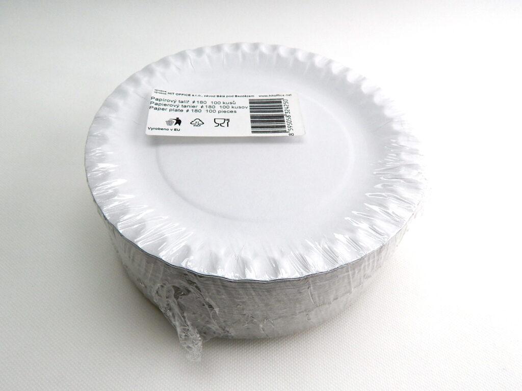 Talíř 18cm papírový 100ks