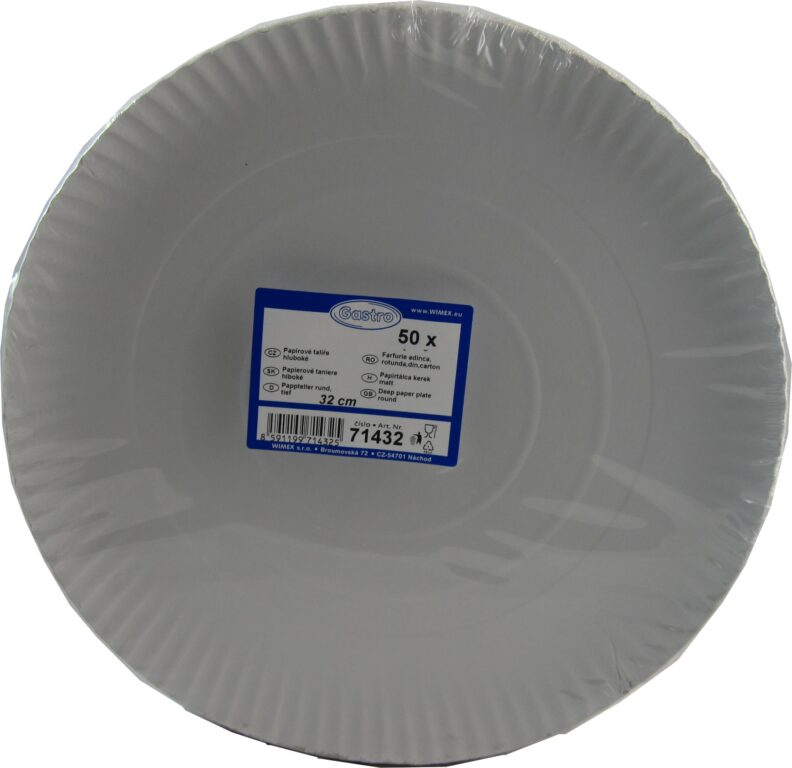 Talíř 32cm papírový hluboký 50ks /71432/