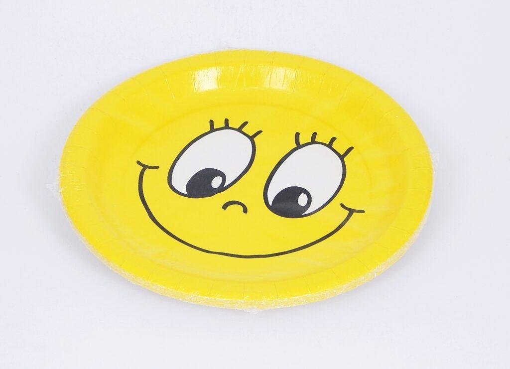 Talíř papírový pr.23cm SMILING FACE [10 ks] /82671/