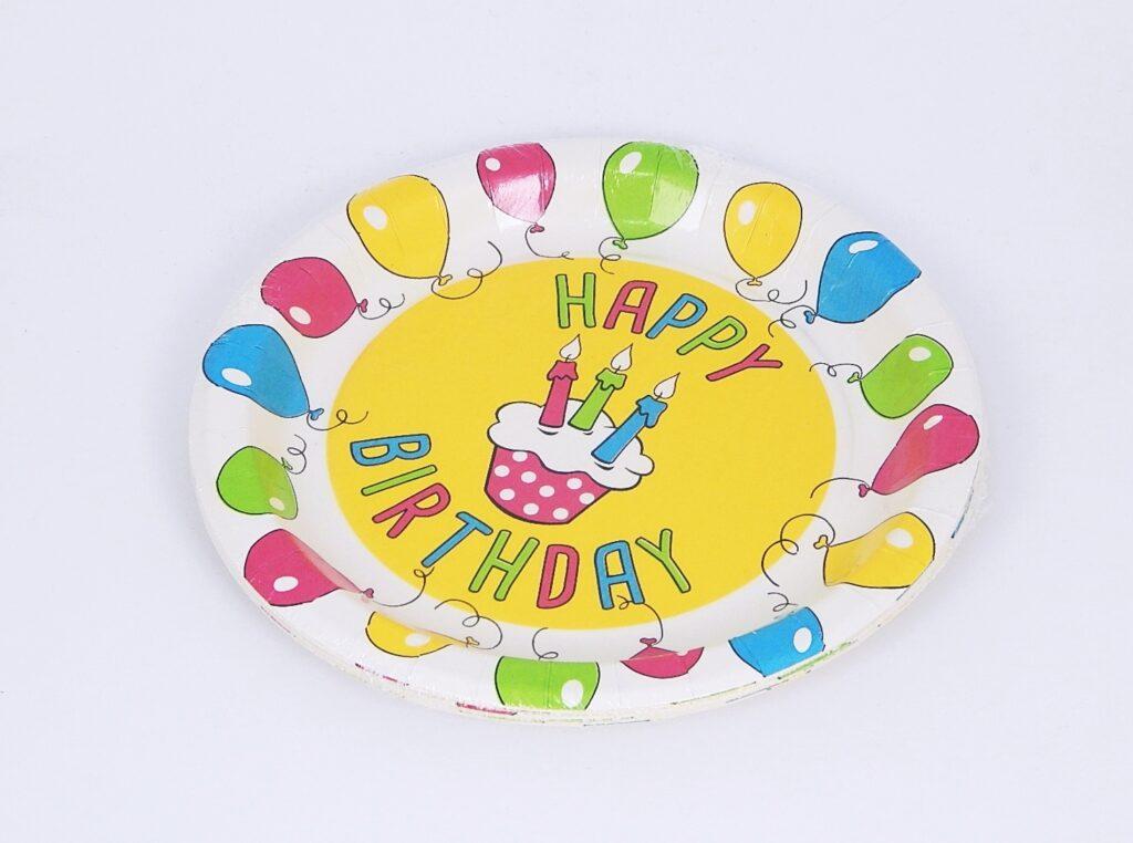 Talíř papírový pr.23 cm HAPPY BIRTHDAY [10 ks] /82811/