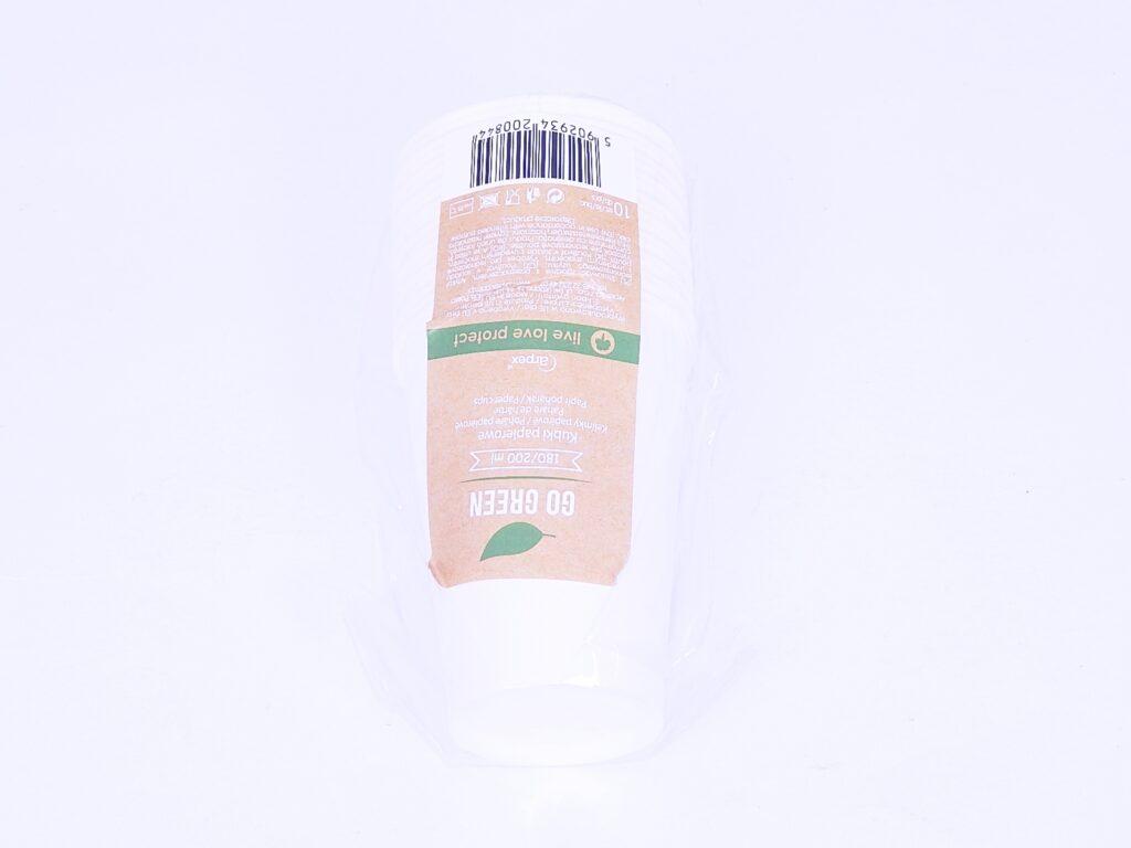 Kelímek EKO papírový bílý 10 ks 200ml /KG0844/