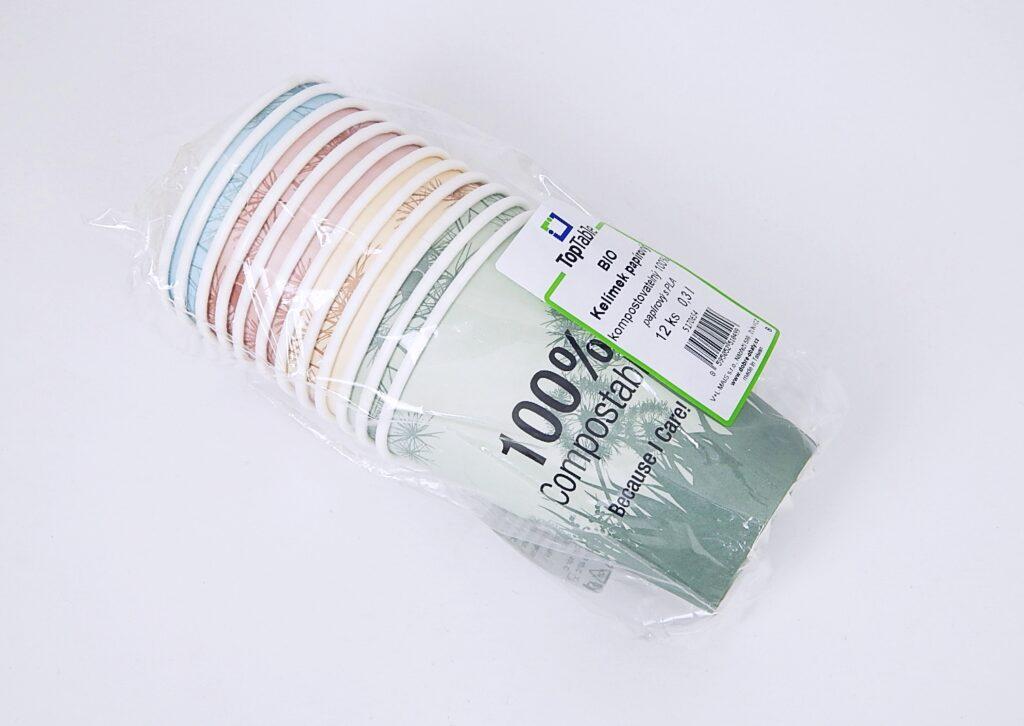 Kelímek papírový TT - BIO 100% compostable 0,3 l, 12 ks 5170655