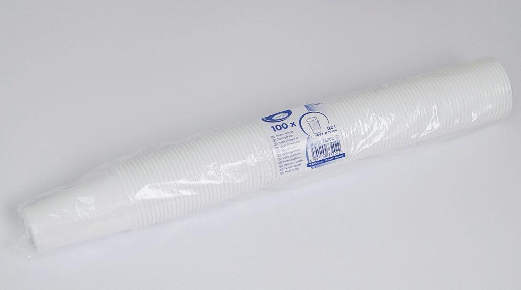 Kelímek 0,2l bílý PP (100ks) /73202/