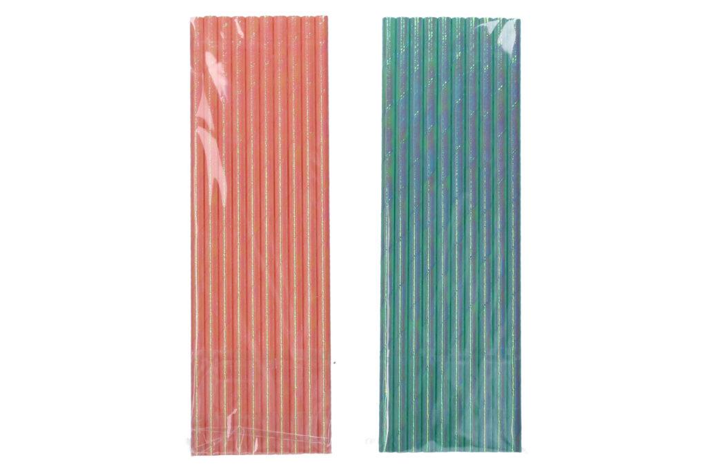 Papírové slámky 19.5 cm 10ks /870938/