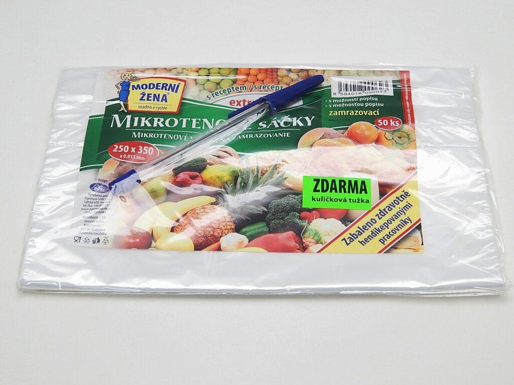 Sáček mikroten 20x30cm zamražovací+recept mix 50ks