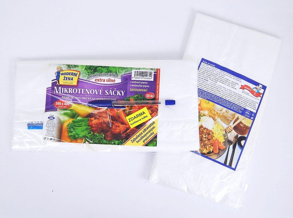 Sáček mikroten 30x40cm zamražovací+recept 50ks