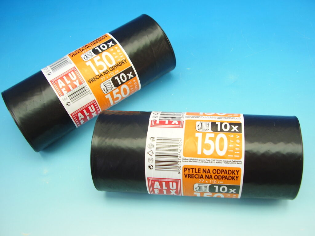 Pytel na odpad 150l 77x110cm 10ks role Alufix černé