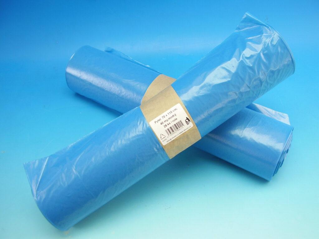 Pytel na odpad 120l 70x110cm 25ks role RLDPE modrý /1212130/