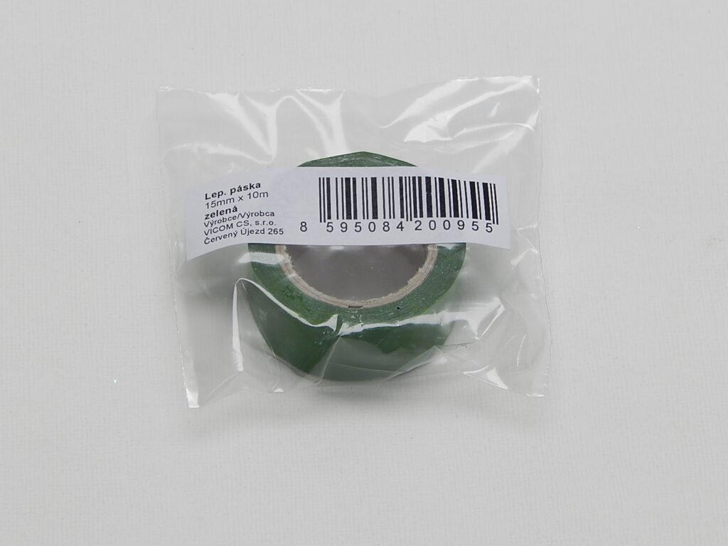 Páska lepící  15x10m zelená
