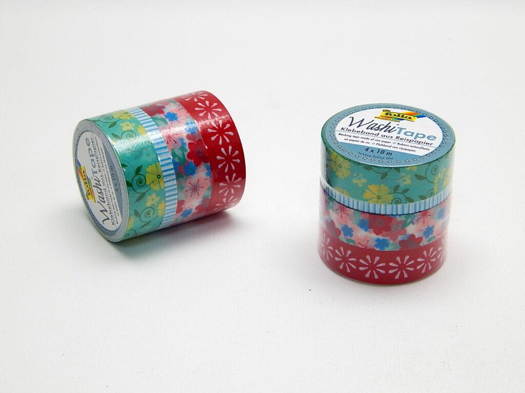 Páska Washi Sada 4 Floral 3x 15mmx10m + 1x 5mmx10m 26412