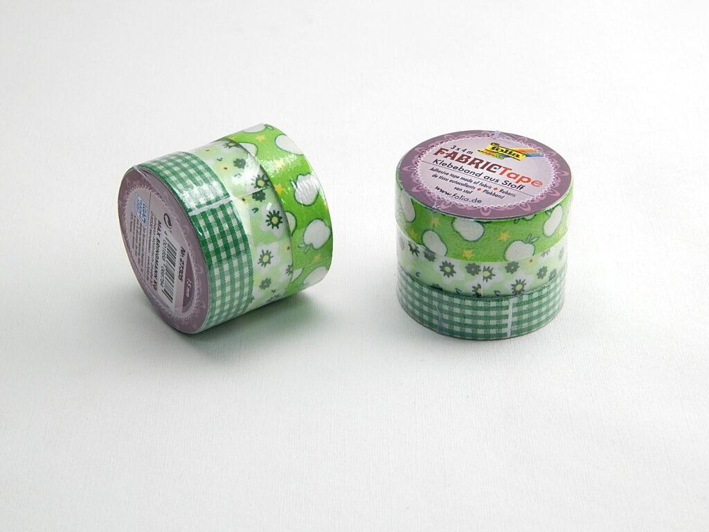 Páska lepící textil FT sada 3, zelená  3x 15mmx4m 27305