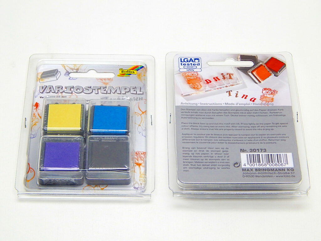 Razítka polštář Set IV 34x34mm, 4ks různé barvy 30173