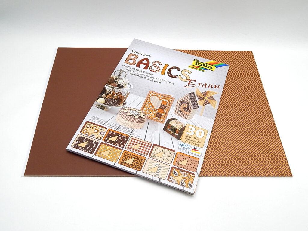 Motiv blok BASICS HNĚDÁ 24x34cm, 46649