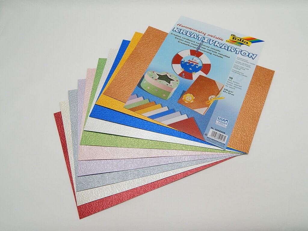 Kreativkarton 230g/m2, 23x33cm, 10 listů, kovový, 5042309